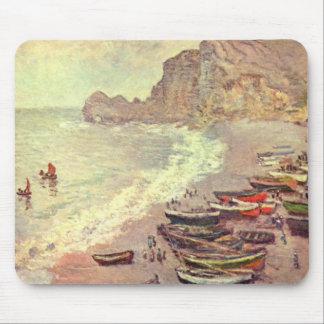 The Beach at Etretat - Claude Monet Mouse Pad