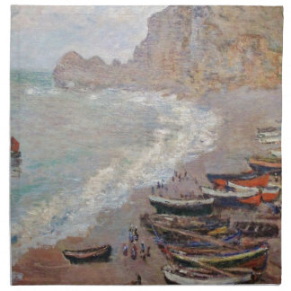 The Beach at Etretat - Claude Monet Napkin