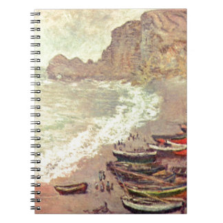 The Beach at Etretat - Claude Monet Notebooks
