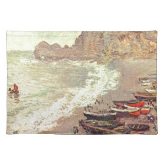 The Beach at Etretat - Claude Monet Placemat