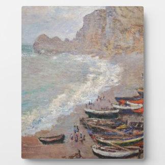 The Beach at Etretat - Claude Monet Plaque