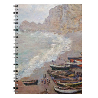 The Beach at Etretat - Claude Monet Spiral Notebook