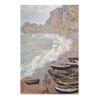 The Beach at Etretat - Claude Monet Stationery