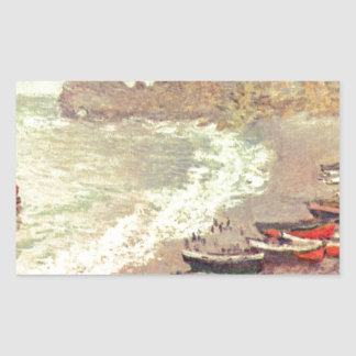 The Beach at Etretat - Claude Monet Sticker