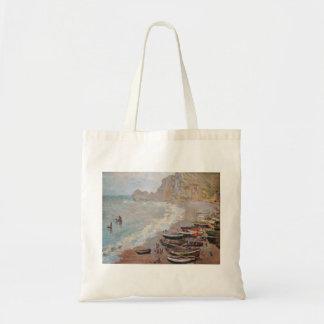 The Beach at Etretat - Claude Monet Tote Bag