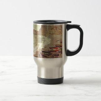 The Beach at Etretat - Claude Monet Travel Mug