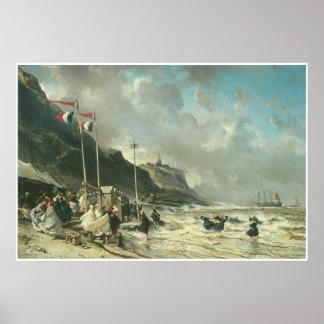 The Beach at Granville, 1863 Print