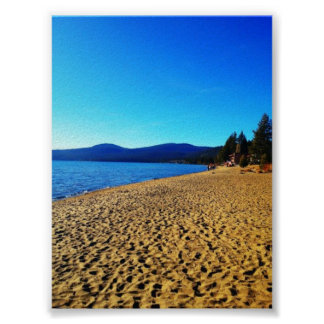 The beach at Lake Tahoe Poster