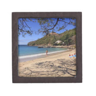 The beach at Pigeon Island National Park Premium Gift Boxes