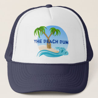 The Beach Bum Palm Trees Tropical Trucker Hat