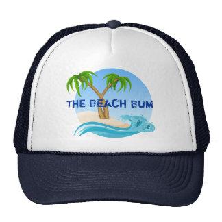 The Beach Bum Palm Trees Tropical Trucker Hat