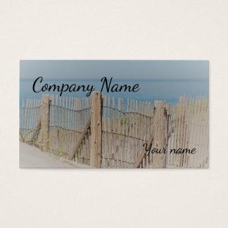 The beach fence business card