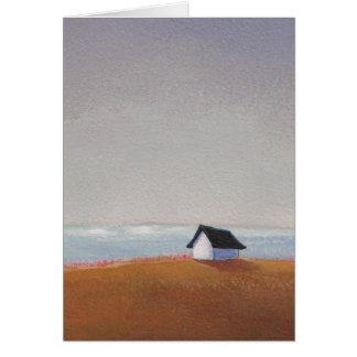 The Beach House - pretty seaside landscape art Card