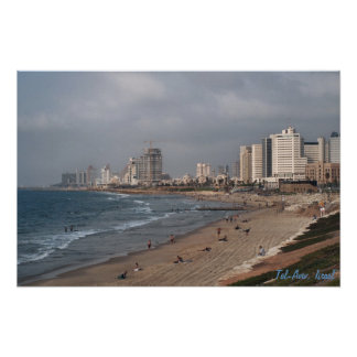 The beach in Tel Aviv Poster