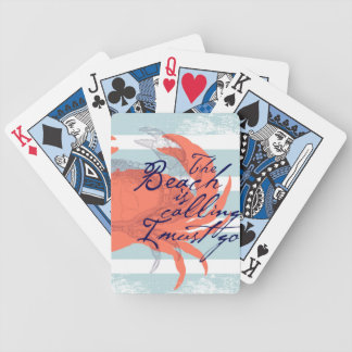 The Beach is Calling I Must Go Bicycle Playing Cards