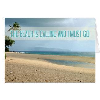 The Beach Is Calling Kailua Beach Photograph Card