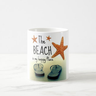 The Beach is my Happy Place Flip Flops Mug