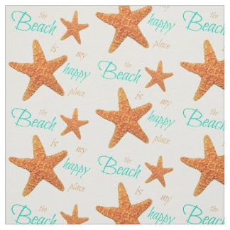 The Beach is my Happy Place Starfish Fabric II
