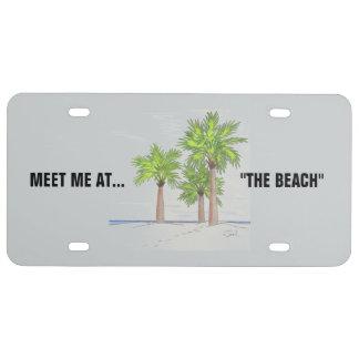 THE BEACH license plate