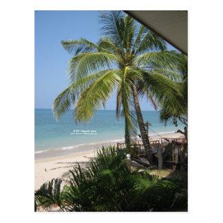 The beach postcard