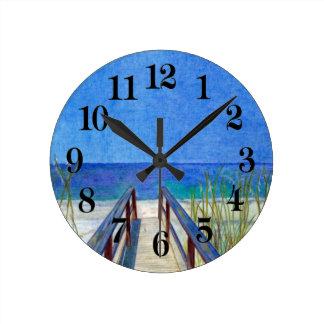 The Beach Round Clock