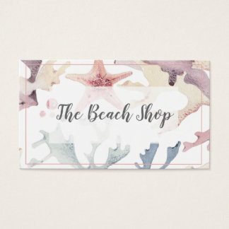 'The Beach Shop' Coastal Business Card