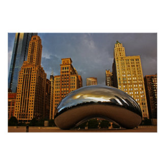 The Bean in Chicago Poster