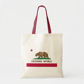 The Bear Flag - Flag of the State of California Budget Tote Bag
