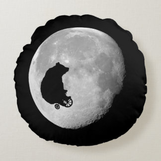 The Bear in the Moon Throw Pillow
