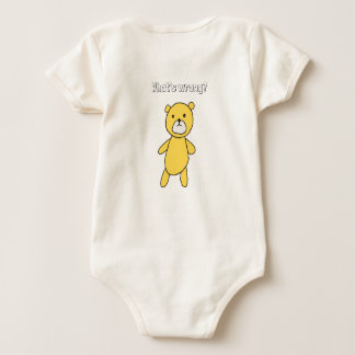 The bear which does not have amiability baby bodysuit