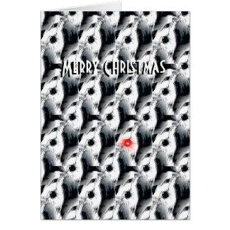 the Bearded Collie Christmas Card