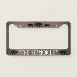 The Bearmobile - Bear Silhouettes Custom License Plate Frame