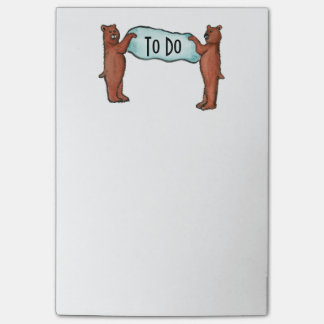 the Bears TO DO List Post-it Notes