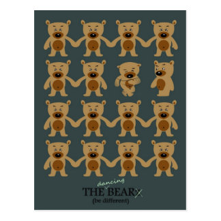 The Bearz - the dancing teddy bear Postcard