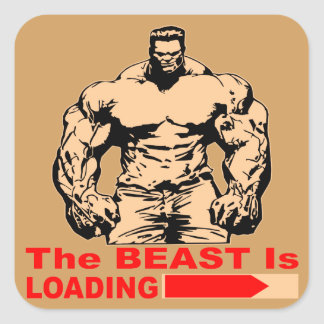 The Beast Is Loading Square Sticker