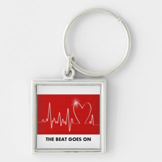 The Beat Goes On - Funny Post-Heart Attack Keychain