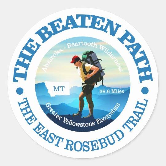 The Beaten Path (East Rosebud Trail) Hiker C Classic Round Sticker