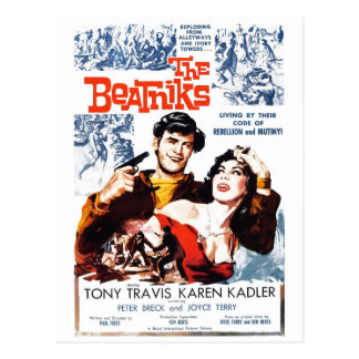 """The Beatniks"" Postcard"