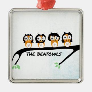 The Beatowls Silver-Colored Square Ornament