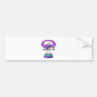 the beautiful bear chested lady bumper sticker