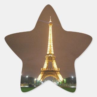 The Beautiful Eiffel Tower Star Sticker