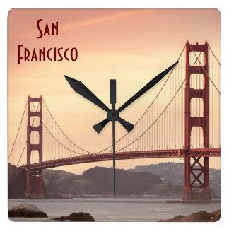The beautiful Golden Gate Bridge in San Francisco Clock