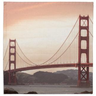 The beautiful Golden Gate Bridge in San Francisco Cloth Napkins