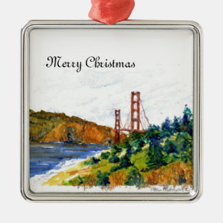 The Beautiful Golden Gate Bridge Metal Ornament