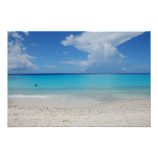 The beautiful Kenepa Grandi beach of Curacao Poster