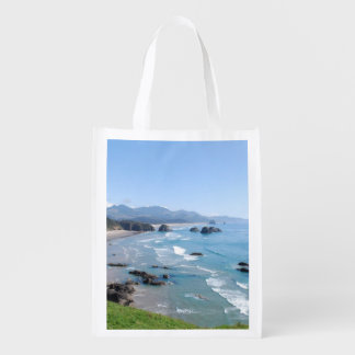 The Beautiful Oregon Coast from Ecola Park Reusable Grocery Bag