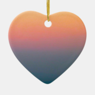 The Beautiful Sky Ceramic Heart Ornament