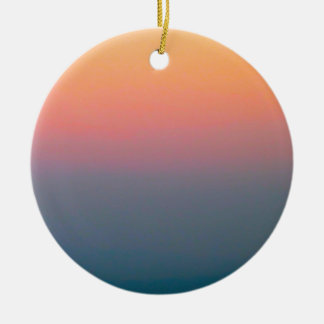 The Beautiful Sky Round Ceramic Ornament