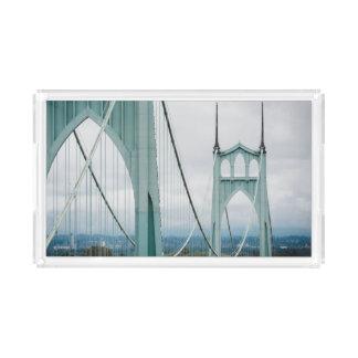 The beautiful St. John's Bridge Acrylic Tray