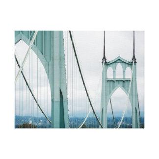The beautiful St. John's Bridge Canvas Print